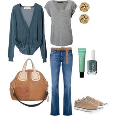 Off Duty Khaki Converse MWUB Spring 2012, created by midwesturbanite on Polyvore