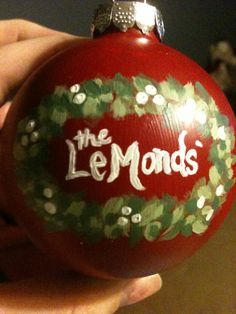 Hand painted Family Ornament