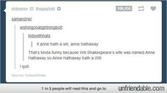 Anne Hathaway Shakespeare Tumblr