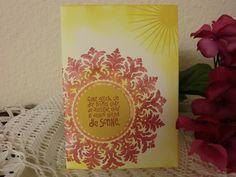 Liebe & Freundschaft - Grußkarte - Sonne im Herzen - ein Designerstück von kreativesherzerl bei DaWanda