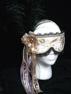 Mask made for Marie Antoinette costume that won first place in a Halloween Contest in 2010