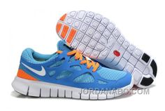 http://www.jordanabc.com/nike-free-run-2-men-sky-blue-orange-for-sale.html NIKE FREE RUN 2 MEN SKY BLUE ORANGE FOR SALE Only $77.00 , Free Shipping!