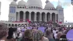 Viewpoint: Chinese mosque standoff risks peace in model Muslim province - BBC News Muslim Protest, Mosque, Taj Mahal, Dolores Park, Asia, Street View, In This Moment, City, World