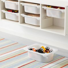 46 Incredible Toy Storage Design Ideas That Looks Cozy Basement Storage, Kids Storage, Storage Design, Wall Storage, Toy Storage, Storage Boxes, Basement Ideas, Playroom Ideas, Basement Remodeling