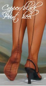 Touchable - UK shop for fully fashioned stockings, RHT, suspender belts, lingerie, delivery world-wide Fully Fashioned Stockings, Gladiator Sandals, Hosiery, Contrast, Copper, Lingerie, Legs, Shopping, Black