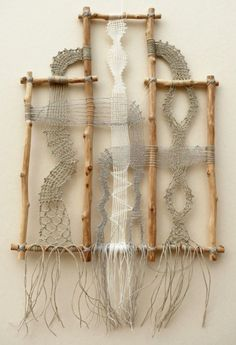 Name: My name is Ágnes Herczeg. I live in Hungary, in a small town, near to the Danube. Known for: I make pictures with lace. Weaving Projects, Macrame Projects, Weaving Art, Loom Weaving, Tapestry Weaving, Hand Weaving, Textile Fiber Art, Lacemaking, Textiles