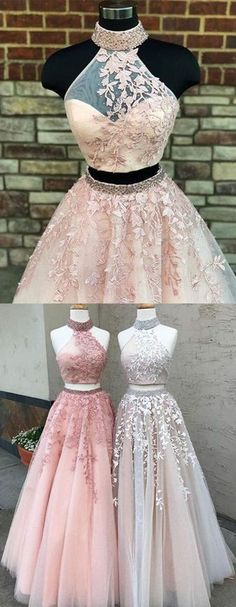 Blush pink tulle two pieces long open back silver beaded sweet 16 prom dresses Prom Dress Two Piece Prom Dress Pink Open Back Prom Dress Blush Prom Dress Silver Prom Dress Prom Dresses 2019 Blush Prom Dress, Pink Prom Dresses, Tulle Prom Dress, Lace Evening Dresses, Pretty Dresses, Homecoming Dresses, Dress Lace, Party Dress, Pink Dress