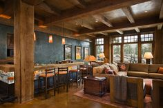 Andesite Residence - rustic - Family Room - Other Metro - Locati Architects