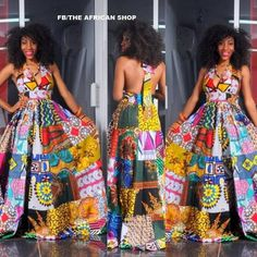 Dance With the Night - Long Unique African Dress, Black Dress with Bright African Patchwork, Ooak Boho Patchwork Dress, Ideal for L to African Print Dresses, African Fashion Dresses, African Attire, African Wear, African Women, African Prints, African Style, African Shop, African Inspired Fashion