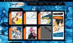 Diseño web para Dibujamanga.com. Sitio web de tutoriales.