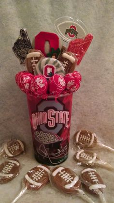 OSU Lollipop Bouquet  Www.conniescreations.storenvy.com