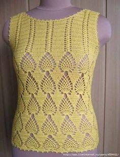Resultado de imagem para patrones de blusas tejidas a crochet