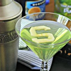 Fun college team cocktails (or make without alcohol) - Michigan State Spartantini