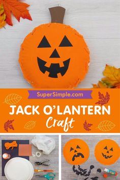 Make a super cute paper plate jack 'o lantern and practice identifying emotions. Halloween Activities, Halloween Projects, Halloween Kostüm, Diy Halloween Decorations, Craft Activities For Kids, Preschool Crafts, Toddler Activities, Crafts For Kids, Diy Projects