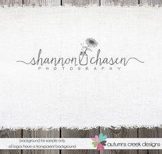 Premade Logo - Hand Drawn Mason Jar & Sunflower Photography Boutique Logo Design Name Text Logo