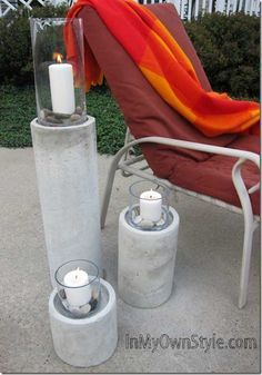 DIY Concrete Fire Columns