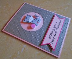 Cat Happy Birthday Card/ Pet Lovers Birthday by DreamsByTheRiver, $3.75