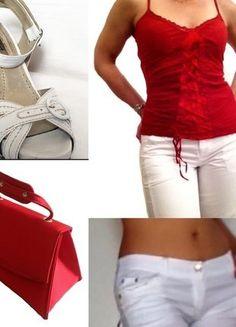 À vendre sur #vintedfrance ! http://www.vinted.fr/mode-femmes/autres-ensembles-and-tailleurs/32907280-outfit-rouge-et-blanc