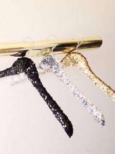 Blush Bridal - Sequin Bridal Hanger, $26.00 (http://www.loveblushbridal.com/sequin-bridal-hanger/)