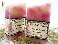 30 Wedding Soap Favors - Bridal Shower Favor - Handmade Soap - Soap Favors - Baby Shower Favor - Vegan - Favours - Savon - Wedding favors (*Amazon Partner-Link)