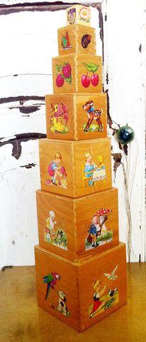 Vintage blokkentoren