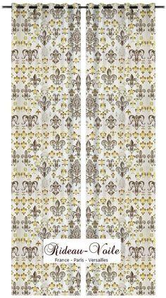 Blanc armoiries h raldique cusson motif imprim tissu textile ameublement co - Confection textile paris ...