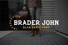 Braderjohn is a fun and simple slab serif font with a cool vibe. It will add a modern and clean. Slab Serif Fonts, Premium Fonts, All Fonts, Silhouette Studio, Cricut Design, Improve Yourself, Creative, Sunday, Simple