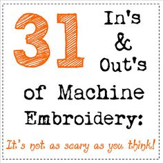 All About Machine Embroidery http://www.seasonedhomemaker.com/2012/09/october-series-announcement.html #machineembroidery
