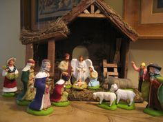My French Nativity Scene.or. French Christmas, Christmas Past, Christmas Candles, Christmas Projects, Christmas Decorations, Christmas Nativity, Christmas Ideas, French Country Cottage, French Country Decorating