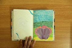 Journal. Illustration. Color. Flower. Sharpie.