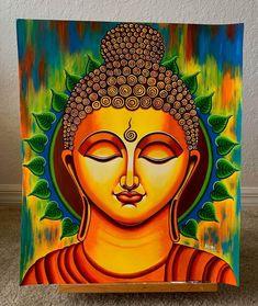 Buddha Drawing, Buddha Art, Budha Painting, Mural Painting, African Art Paintings, Canvas Painting Tutorials, Madhubani Painting, Art Drawings Sketches Simple, Pics To Draw