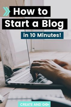 Starting a blog is easier than you might think! Even if you're not a web design expert, you can set up a beautiful blog quickly and easily. We'll show you how to start a blog in just ten minutes! #createandgo #startablogintenminutes #startablog #workfromhome Hobbies That Make Money, Make Money Blogging, Make Money From Home, How To Make Money, Earn Money, Work From Home Opportunities, First Blog Post, Blog Topics, Blog Writing