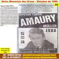 IJUÍ - RS - Memória Virtual: Série: Memória das Urnas > Eleições de 1990: Candi...