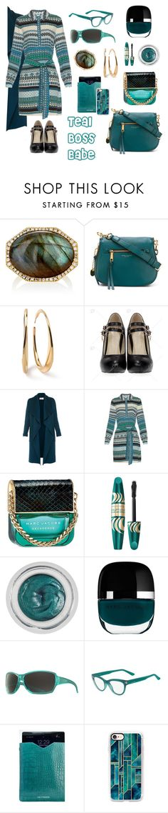 """""""Teal Boss Babe"""" by michele-nyc ❤ liked on Polyvore featuring Monique Péan, Marc Jacobs, Ippolita, L.K.Bennett, Diane Von Furstenberg, Max Factor, Charlotte Tilbury, Smith, Valentino and Driftwood"""