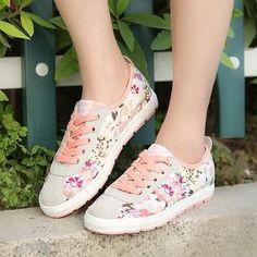 Renben - Floral Panel Sneakers