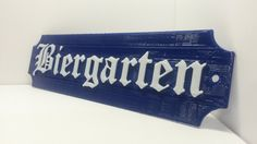 BIERGARTEN Beer Garden Sign German Oktoberfest Party Decor Bavarian Plaque by ConceptionToCreation on Etsy