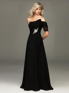 Cheap gowns australia, Buy Quality gown and robe sets directly from China gown material Suppliers: Sexy One-Shoulder Evening Dresses Black Chiffon Beaded Vestido De Festa Floor-Length Party Evening Gown White Formal Gowns, Formal Dresses For Weddings, Event Dresses, Dresses Uk, Casual Dresses, Formal Wear, Prom Dresses, Ladies Dresses, White Gowns