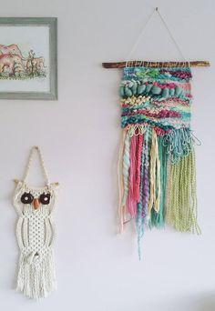 Woven Wall Art 'Lissie' Hand Woven Whimsical Art