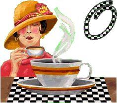 coffee gifs | Lady drinking Coffee Kaffee cafe animated alphabet gif hot photo O.gif