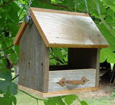 Rustic Cedar Hanging Nest Box or Bird por SwampwoodCreations