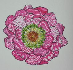 Blooming Zentangle by 1Jodi1 - Cards and Paper Crafts at Splitcoaststampers