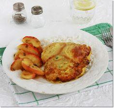 Gizi-receptjei: Sajtos-sült csirkemell mézes-tejszínes almával. French Toast, Chicken, Breakfast, Food, Morning Coffee, Essen, Meals, Yemek, Eten