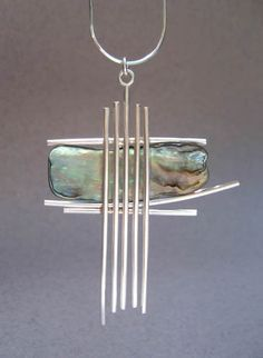 paua shell and silver By Anna Vosburg Design
