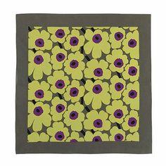 Fun, feminine, and flirty finishing touch. Marimekko Mini Unikko Green/Purple Scarf - $29