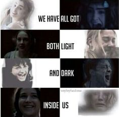 The Mortal Instruments, Divergent, Harry Potter and The Hunger Games
