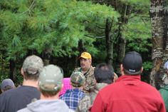 """One of the Chief Instructors teaching the """"Shoot/Don't Shoot"""" segment of the Hunter Education course."""