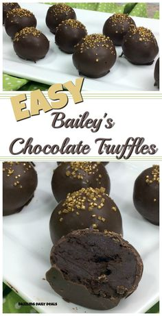 Easy Bailey's chocolate Truffles are the perfect adult dessert to make your guest asking for more. Bailey's Truffles are an easy chocolate truffle to whip up for your next holiday party or as a hostess gift. Dessert Party, Party Desserts, Christmas Desserts, Dessert Recipes, Picnic Recipes, Breakfast Recipes, Dinner Recipes, Chocolate Melting Wafers, Chocolate Truffles