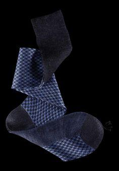 William Abraham - Luxury Socks for Men ● SKY / CHARCOAL