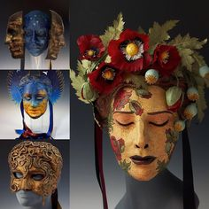 Artisan of the Month! I've featured this artisan before, but Cyndy Salisbury has been creating even more amazing masks since then! I love the dreamlike quality and texture of her masks with so many fragile details.