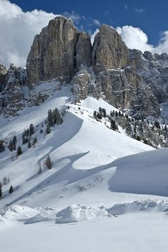 Winter in the Dolomites, Trentino-Alto Adige, Italy